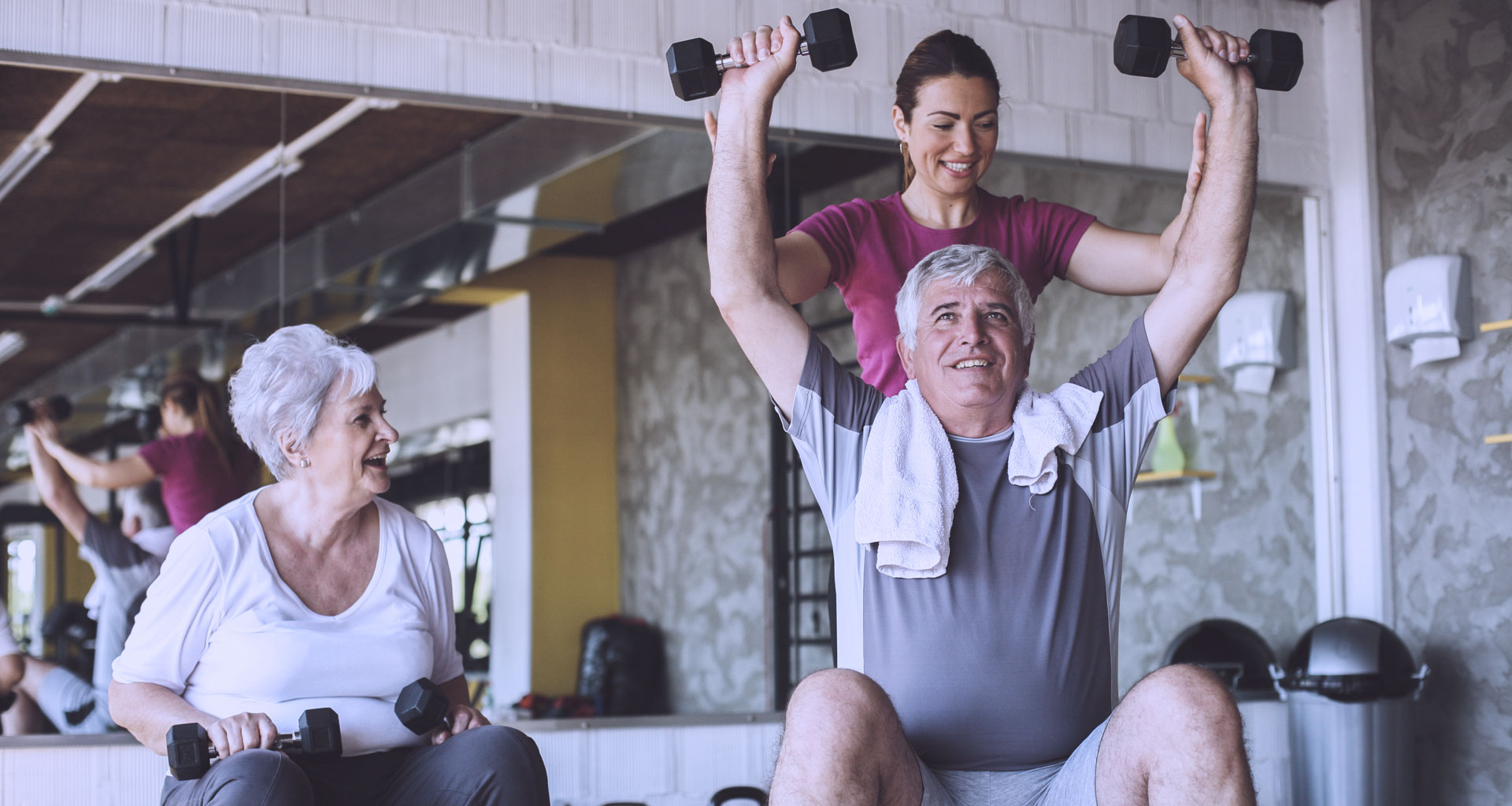 fitness with aged people