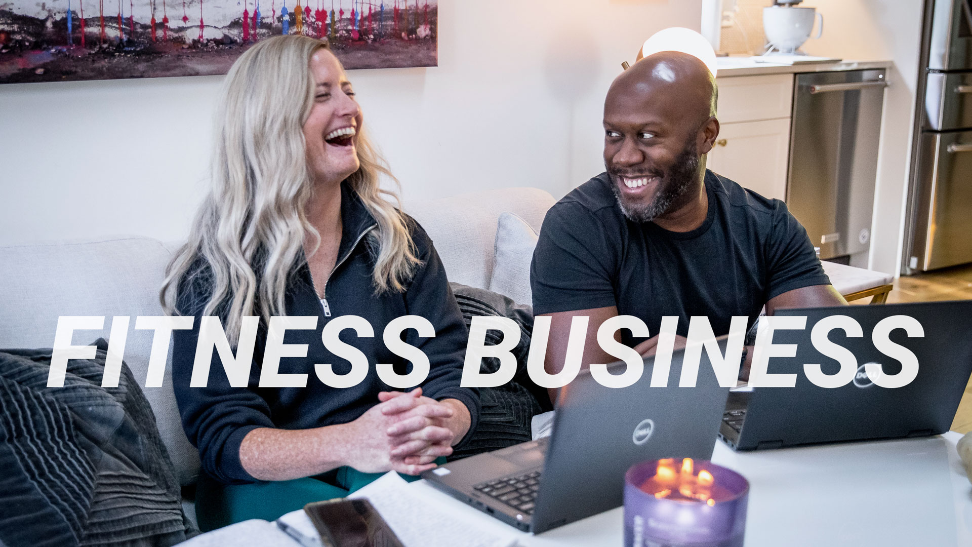 people having business conversations