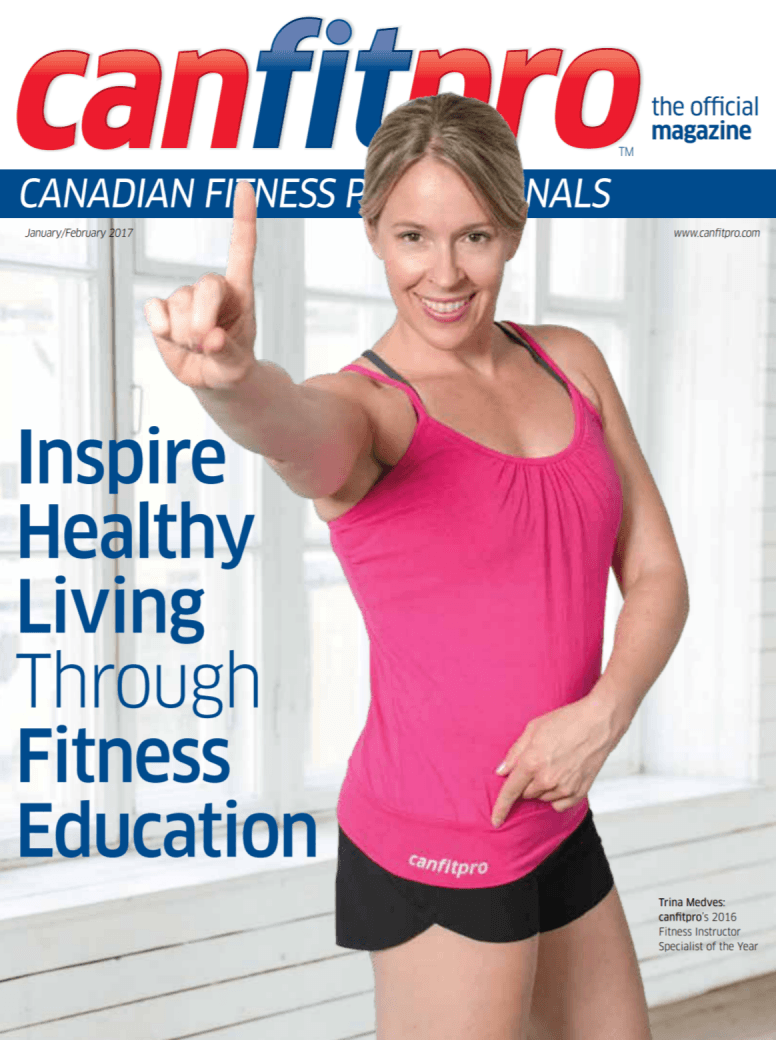 canfitpro Magazine | Jan/Feb 2017 cover