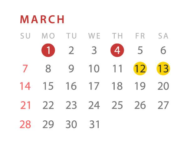 Franco event calendar