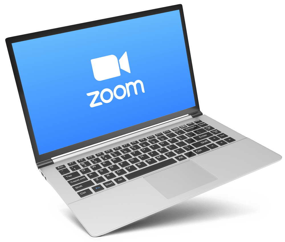 zoom icon on laptop