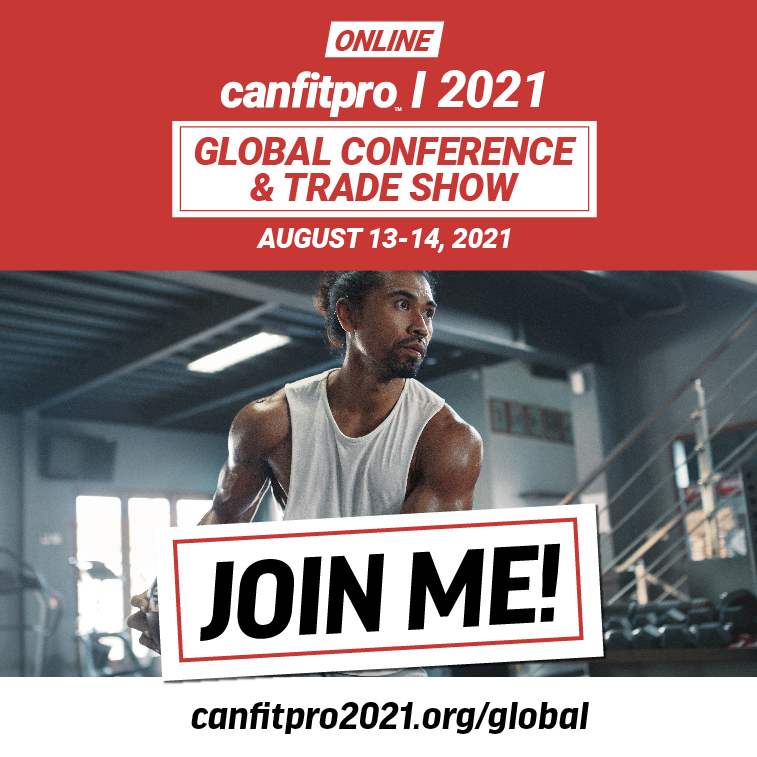 SOCIAL MEDIA TILE – JOIN ME - canfitpro 2021 Online: Global Conference & Trade Show