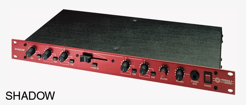formula sound shadow mixer stereo 1 microphone 4 stereo inputs 1u rackmount