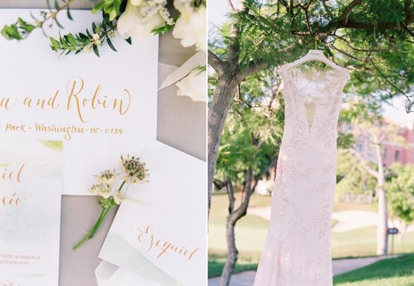 Intimate wedding, dress