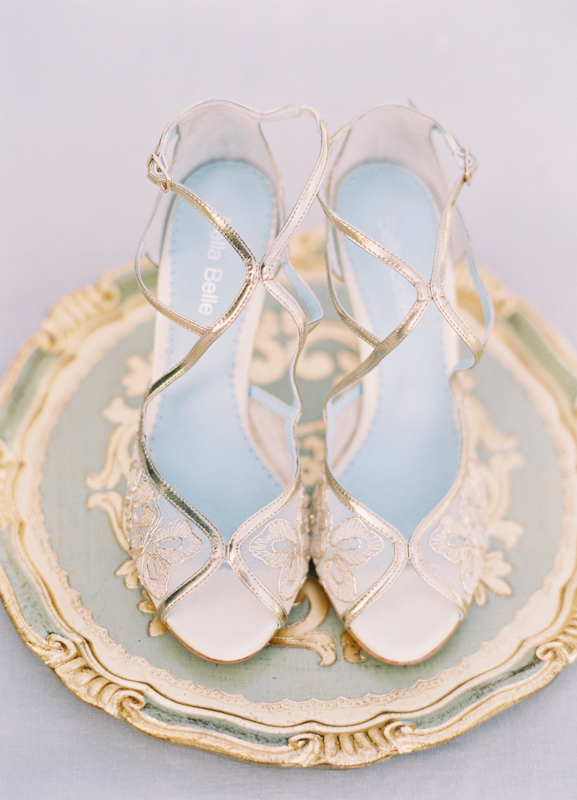 Intimate wedding, shoes