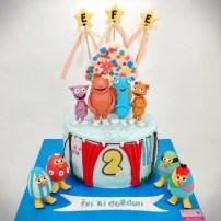 Cuddlies Cake, Egg Birds Cake, Baby TV Cake, 2 Years Old Cake, 2. Yaş Pastası, Efe 2 Yaşında