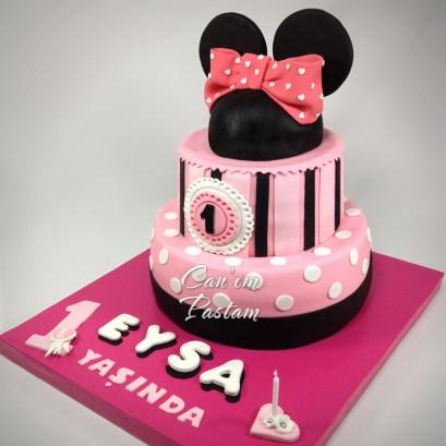 Minnie Mouse Cake 2 katlı pasta 1 Yaş Pastası Gülşah Ertürk Canım Pastam