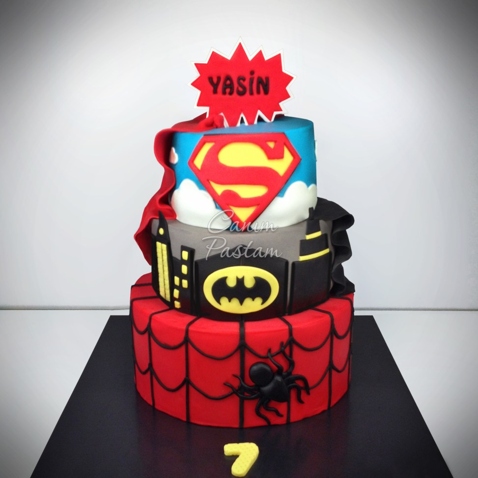 Super Hero Cake Superman Cake Spiderman Cake Batman Cake