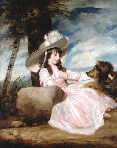 Portrait of Miss Anna Ward & Her Dog