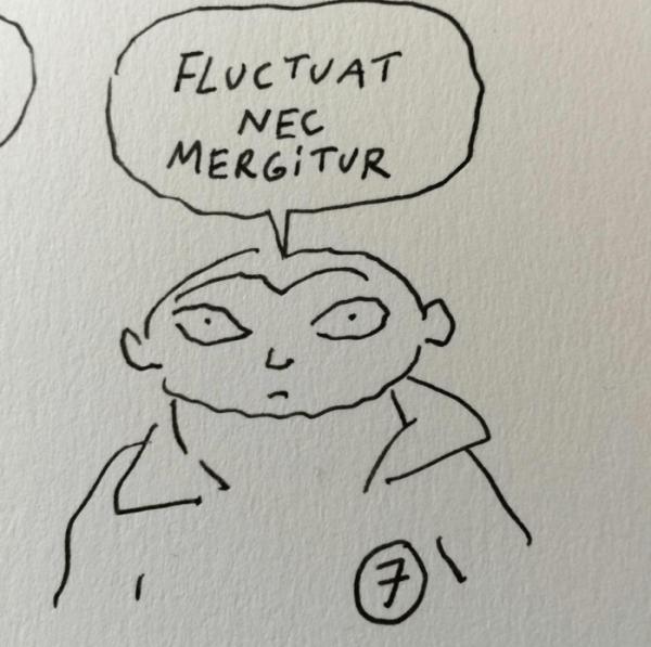'Fluctuat nec mergitur' (Fluctúa, pero no se hunde)