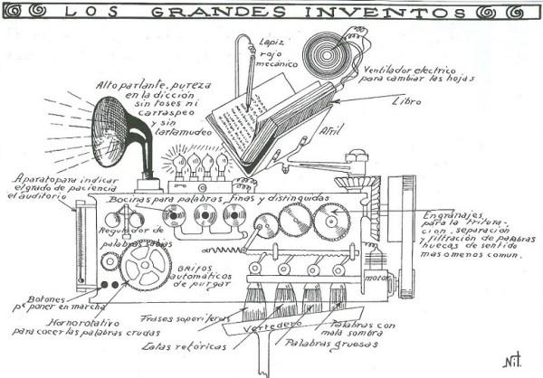 Invento del TBO para 1925 sobre un lector automático de páginas - NIT