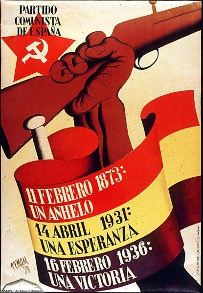 Cartel del Partido Comunista para el año 38