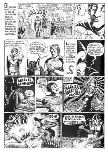 Página de la historieta La calabaza encantada publicada en Nasti de Plasti, 1976