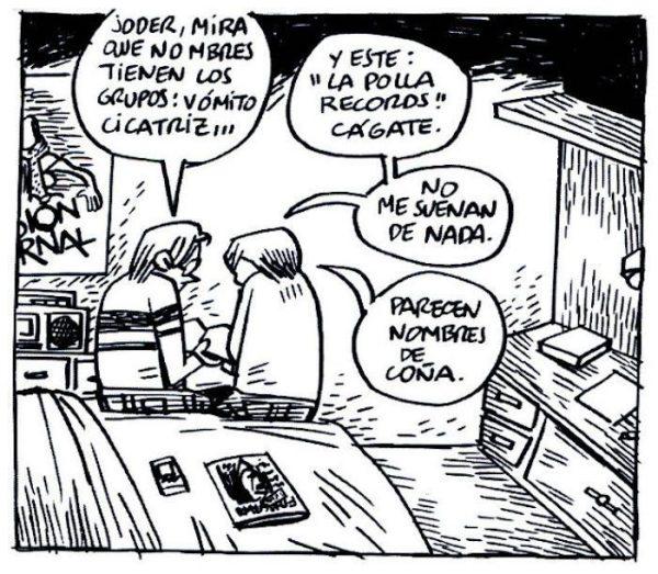 Viñeta de Chicos de la calle, fanzine de José Tomás