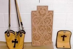 Leatherwork created while incarcerated by Life for Pot prisoner Andy Cox.