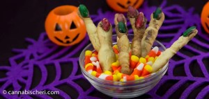 Halloween Marijuana Recipes - Creepy Finger Cookies