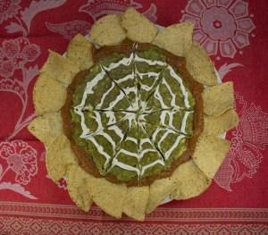 "Halloween Marijuana Recipes - Spider Web Dip with ""Baked"" Tortilla Chips"