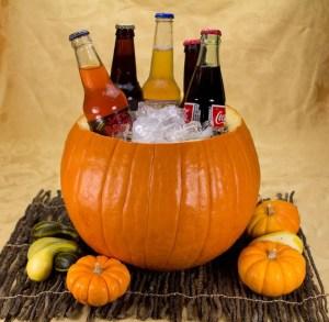 Marijuana Halloween Party - Pumpkins as Ice Buckets