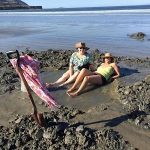 Natural hot tub on the beach at the La Jolla Beach Camp in Punta Banda