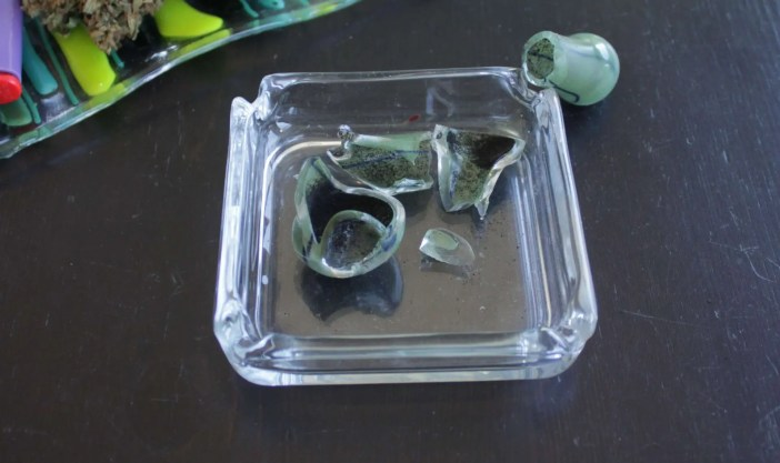 broken glass pipes