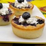 Marijuana Recipes - Blueberry Yum Yum Cobbler Cupcakes