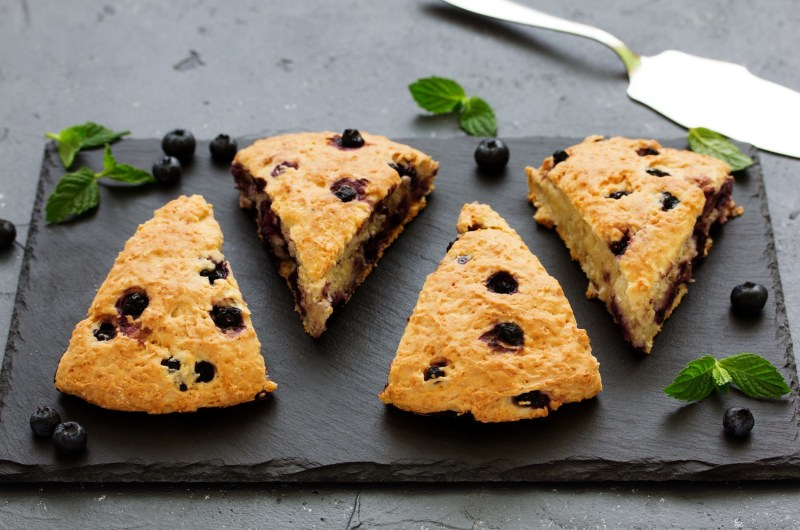 Cannabis Infused Blueberry Scones