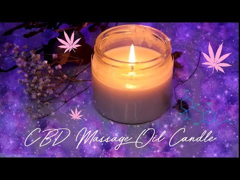 CBD Massage Oil Candle