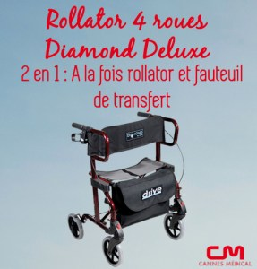 rollator diamond deluxe 4 roues