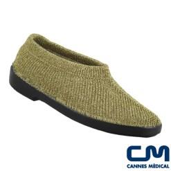 chaussure ballerine mailla or