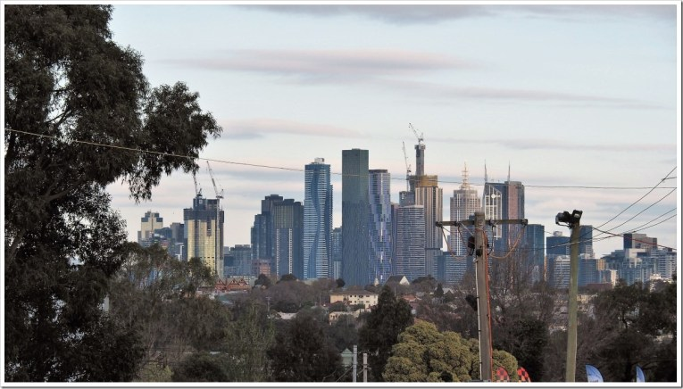 Melbourne from the Showgrounds