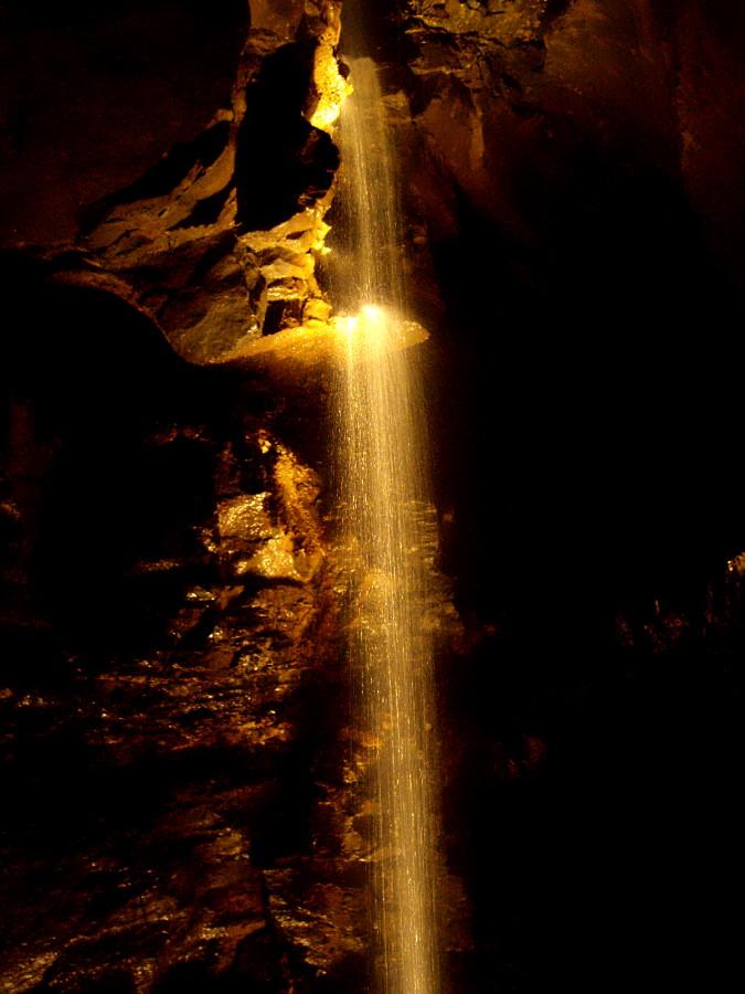 Ailwee Cave Waterfall