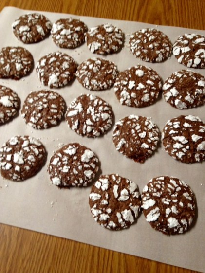 chocolate crinkles 2