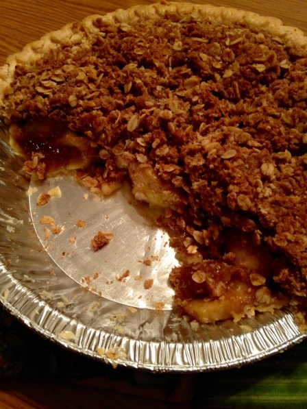 caramel apple pie half