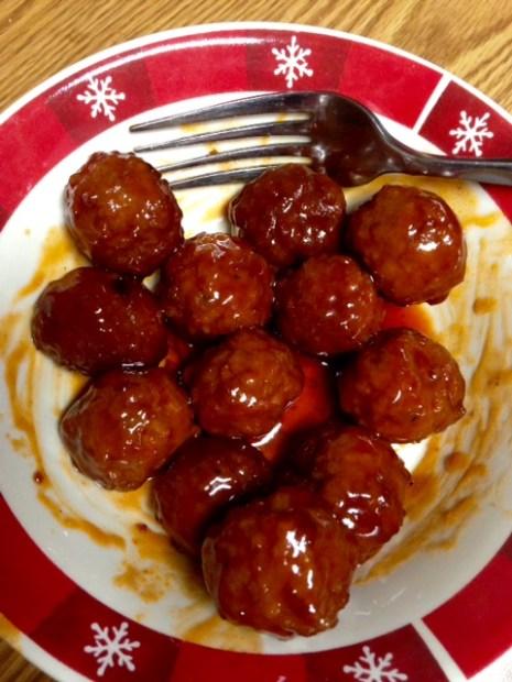 crockpot party meatballs 2