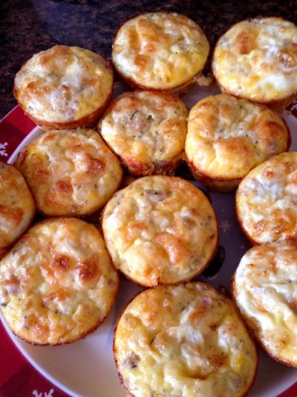 sausage egg cheese muffin cups baked