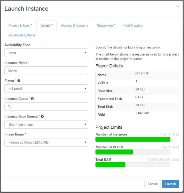 instances-launch