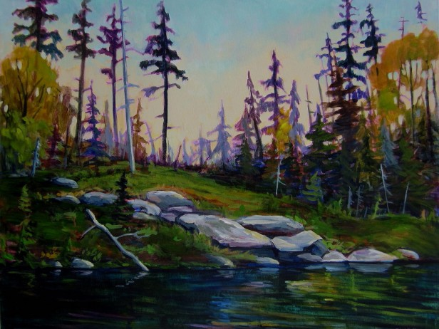 Canoeing And Painting In The Wild Northern Saskatchewan