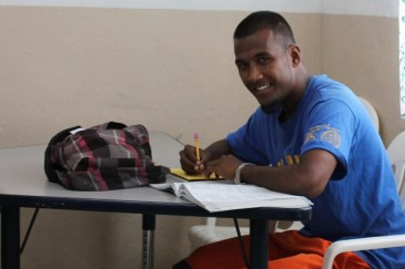 Alumni Winton Boon was a trainee in 2012 and in 2014 he graduated from the GED Program, which is coordinated by the College of the Marshall Islands.