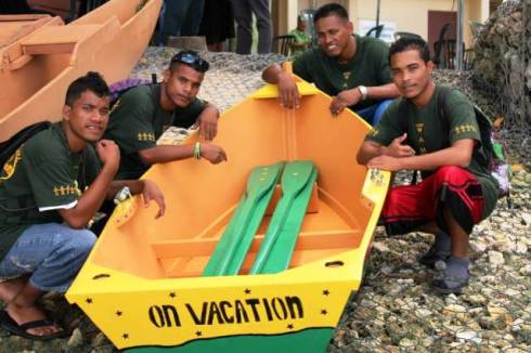 The 'On Vacation' team of WAM trainees.