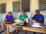 John Huth, Joe Genz, and a WAM crew enjoy a feast at Tobal, Aur IMG_0066