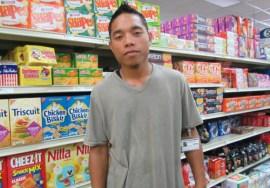 WAM 2015 alumni Jackhead Francis at work at Payless Supermarket. Photo: Tolina Tomeing