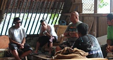 Director Alson Kelen with trainees on orientation day. Photo: Sealend Laiden