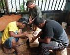 GEF Trainees Etri John, Thompson Johnson, and Dickson Jitiam. Photo: Suemina Bohanny