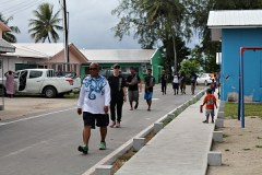 Director Alson Kelen, staff and trainees during Walk-a-thon. Photo: Suemina Bohanny