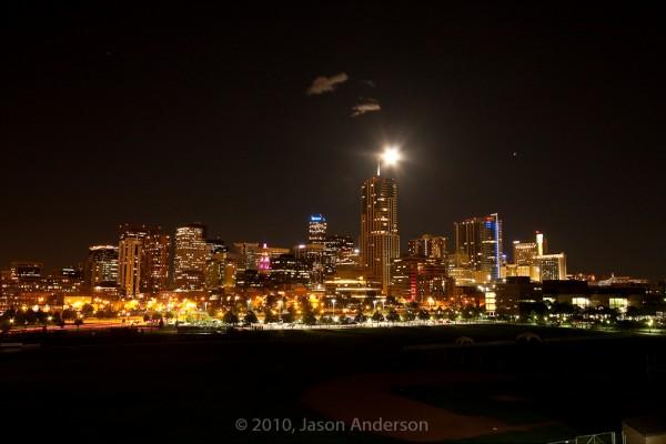 Denver Moon Rise