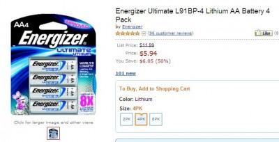 Energizer Ultimate Batteries