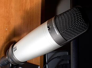Week 1 WInner - Thomas w/ Microphone