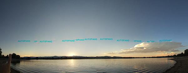 August Sunset (original pano stitching)