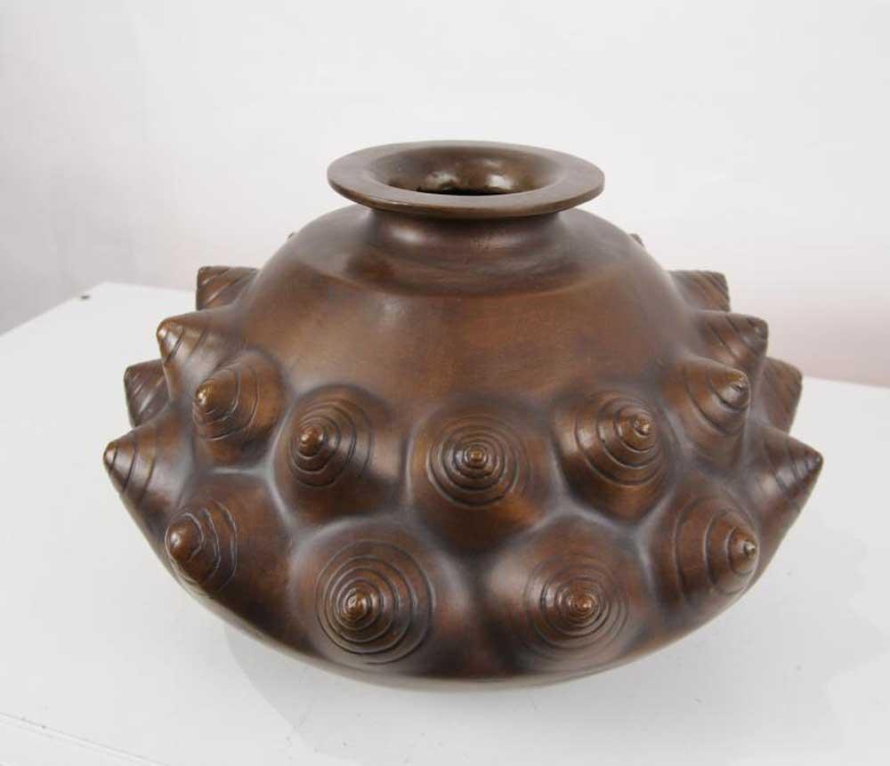 Art Nouveau Bronze Snail Bowl Vase By Lalique