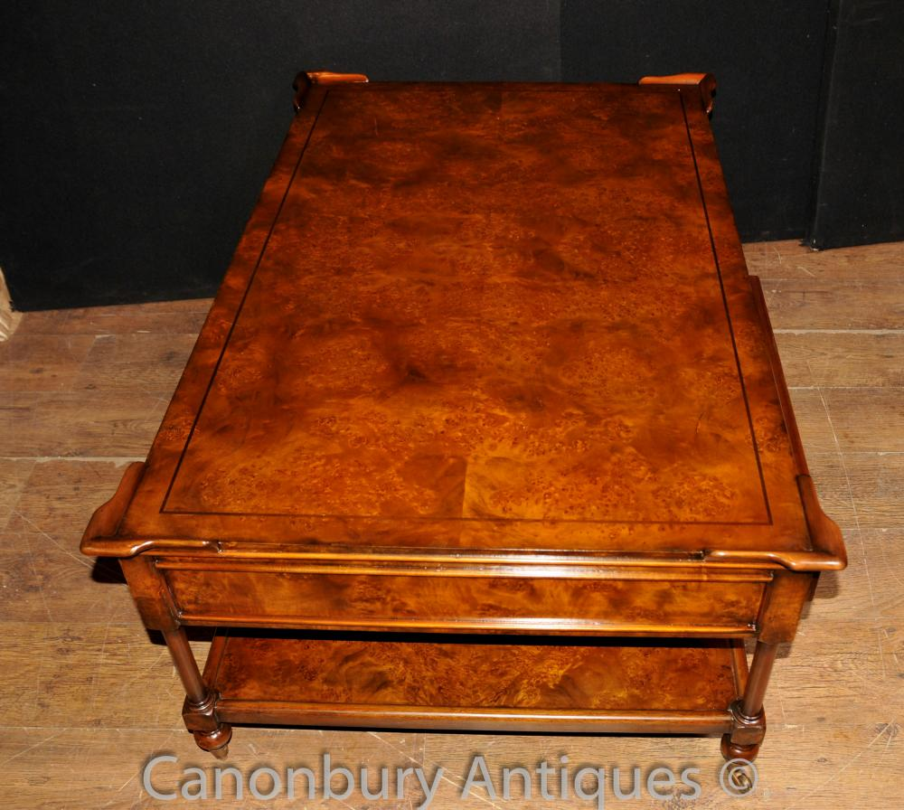 Regency Coffee Table Burr Walnut Tables Furniture